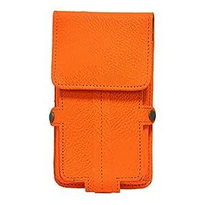 Jo Jo A6 G8 Series Leather Pouch Holster Case ForLg Optimus G Pro Orange