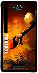 PrintVisa Sports Football Case Cover for Sony Xperia C