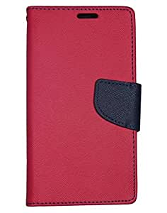 Aart Fancy Diary Card Wallet Flip Case Back Cover For Mircomax A102 - (Red) + USB Bracelet Cable with Charging and Sync for all smart phones by Aart Store.