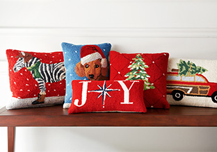Instantly Jolly: Holiday Pillows & Throws!