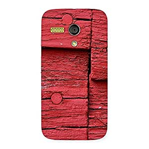 Stylish Red Kil Wood Back Case Cover for Moto G