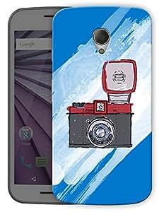 "Camera Flash Printed Designer Mobile Back Cover For ""Motorola Moto G2"" By Humor Gang (3D, Matte Finish, Premium Quality, Protective Snap On Slim Hard Phone Case, Multi Color)"