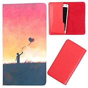 DooDa - For Lava iris 430 PU Leather Designer Fashionable Fancy Case Cover Pouch With Smooth Inner Velvet