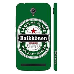 Asus Zenfone Go RAIKKONEN LEAVE ME ALONE designer mobile hard shell case by Enthopia