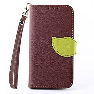 LG Optimus L90 Case, IVY Brown - Leaves Magnetic Snap Series Wallet Card Flip Synthetic Holster Leather Stand With Lanyard Case Cover Skin For LG Optimus L90