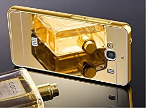 Aart Luxury Metal Bumper + Acrylic Mirror Back Cover Case for Redmi Mi2 + USB dual Power car Charger By Aaart Store.