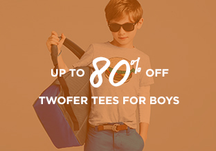 Up to 80% Off: Twofer Tees for Boys