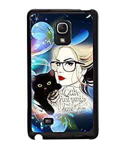 Fuson Kitty Girl Back Case Cover for SAMSUNG GALAXY MEGA 2 - D3937