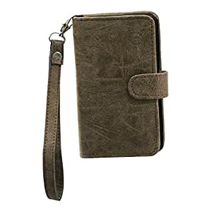 Jo Jo A9 Classic Leather Carry Case Cover Pouch Wallet Case For Rio Paris Brown