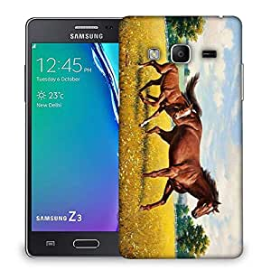 Snoogg Parental Horse Designer Protective Phone Back Case Cover For Samsung Galaxy Tizen T3