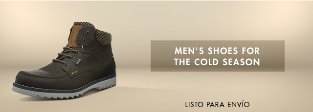Men`s shoes for the cold season
