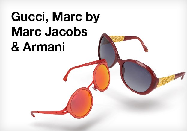 Gucci, Marc by Marc Jacobs & Armani