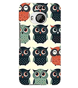Kingcase Printed Back Case Cover For htc One M9 Plus - Multicolor