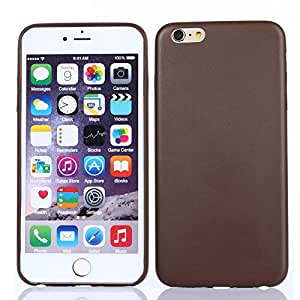 Iphone 6 Plus Case, Perfect Fit, Stylish Design, Quality Minimalistic Skin, Anti Slippery, Custom Protective Cover Pu Leather Case for Iphone 6 Plus (5.5) (brown)