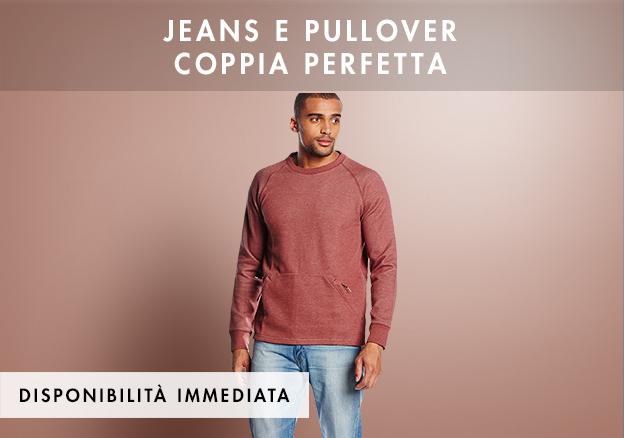 Jeans e pullover coppia perfetta