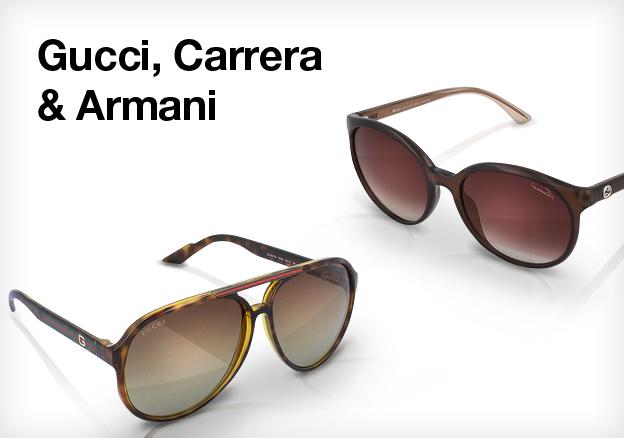 Gucci, Carrera & Armani