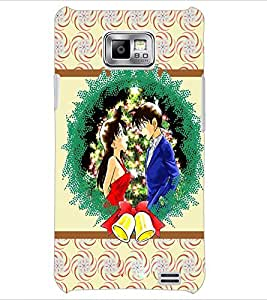 PrintDhaba Couple D-3771 Back Case Cover for SAMSUNG GALAXY S2 (Multi-Coloured)