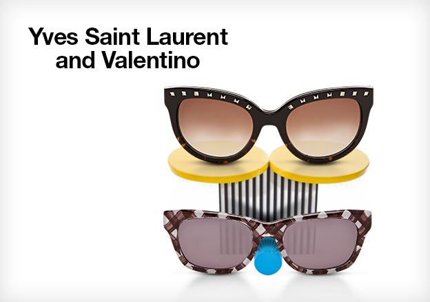 Yves Saint Laurent and Valentino