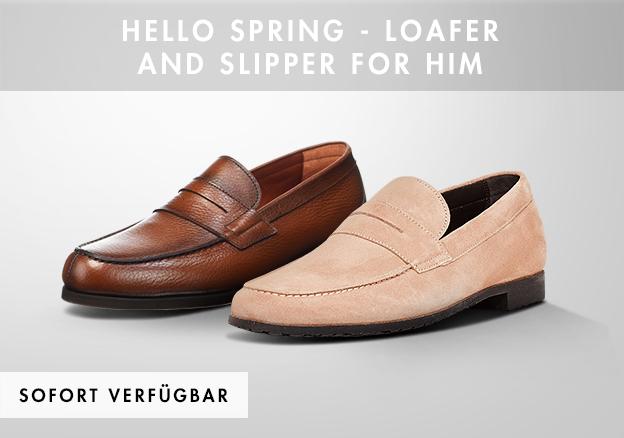 Hello Spring - Loafer und Slipper für Ihn