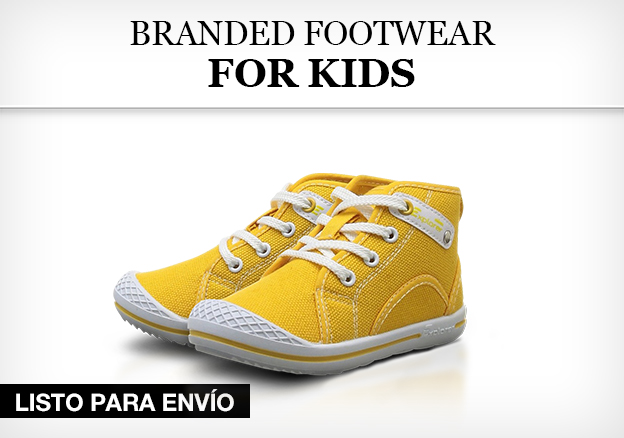Branded footwear for kids