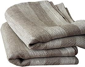Asciugamani e asciugamano ospite in lino naturale a strisce Lucas