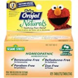 Orajel Baby Naturals Teething Tablets, 125 Count