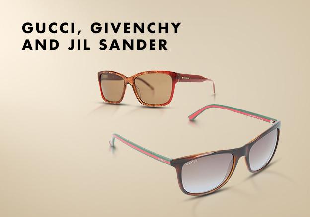 Gucci, Givenchy & Jil Sander