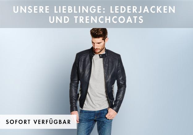 Unsere Lieblinge: Lederjacken und Trenchcoats!