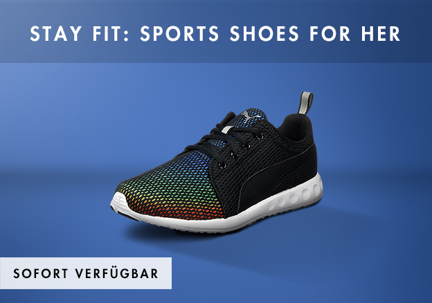 Stay fit: Sports shoes for her