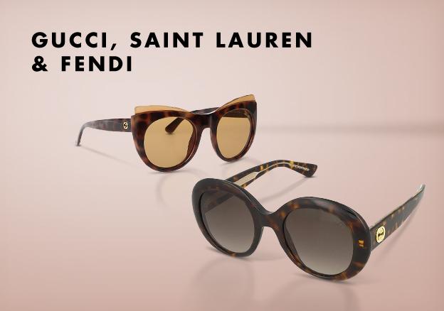 Gucci, Saint Lauren & Fendi