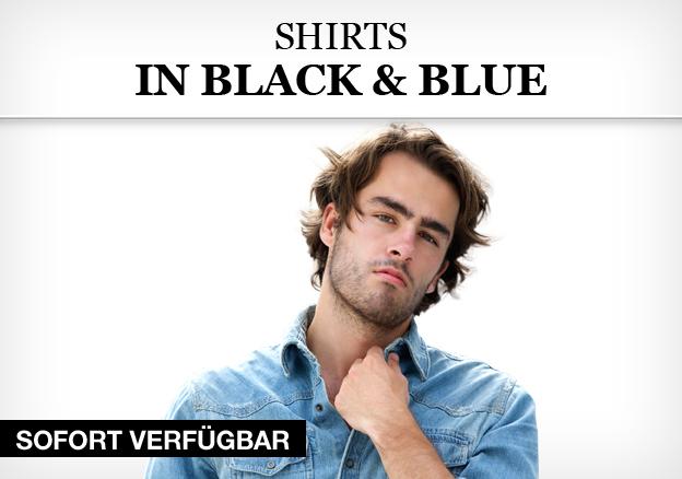 Shirts in Black & Blue