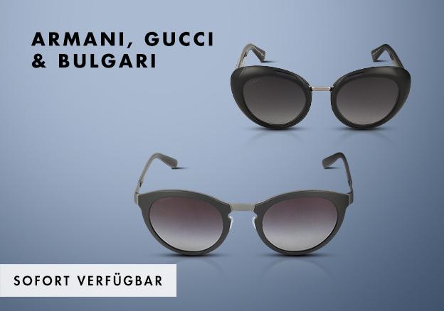 Armani, Gucci & Bulgari