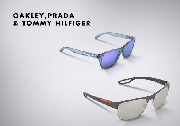 Oakley,Prada & Tommy Hilfiger