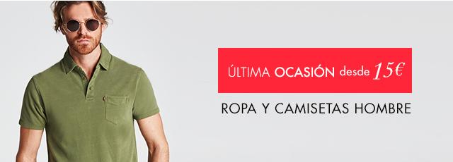 Ropa y camisetas hombre a partir de 15€