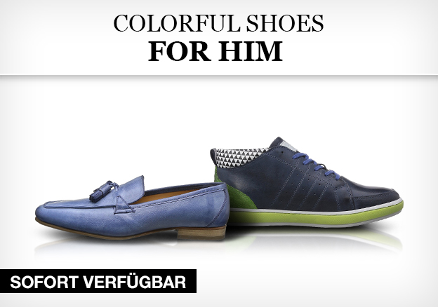 Colorful shoes for him