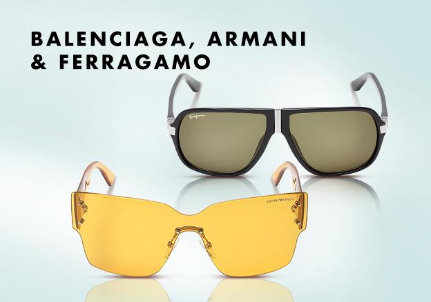 Balenciaga, Armani & Ferragamo