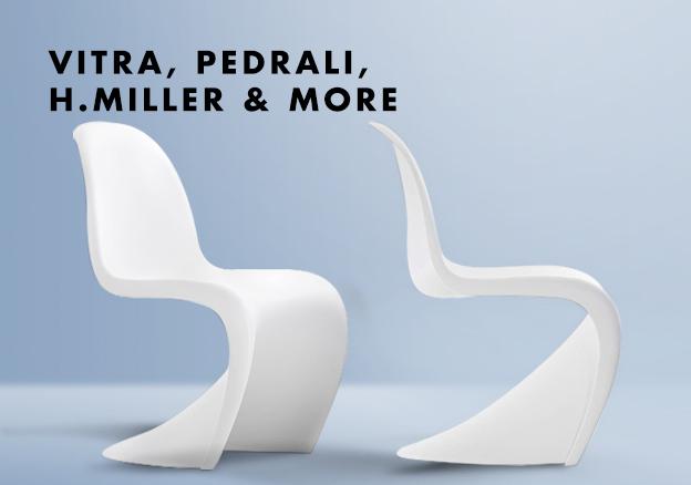 Vitra, Pedrali, Hermann Miller & more
