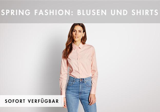 Spring Fashion: Blusen und Shirts bis -75%!
