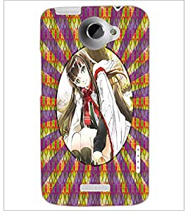PrintDhaba Beautiful Girl D-3267 Back Case Cover for HTC ONE X (Multi-Coloured)