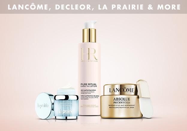 Lancôme, Decleor, La Prairie & more