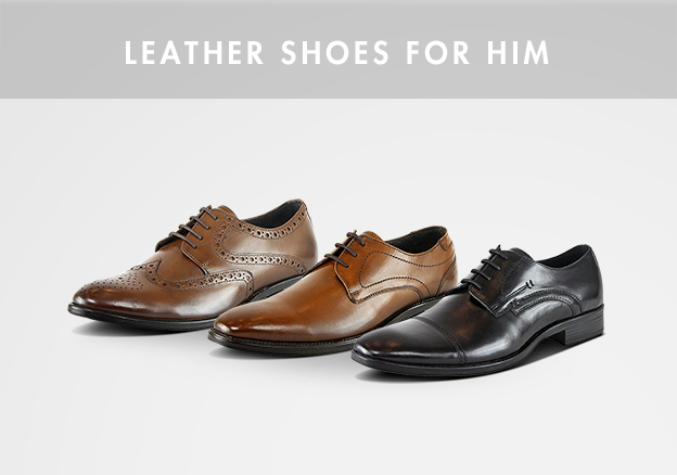 Leather shoes for him!