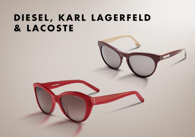 Diesel, Karl Lagerfeld & Lacoste