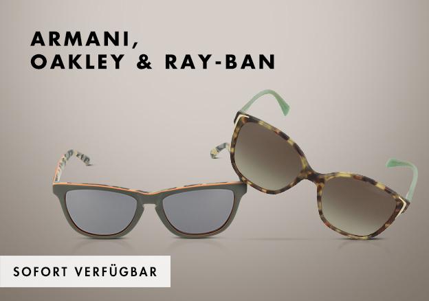 Armani, Oakley & Ray-Ban