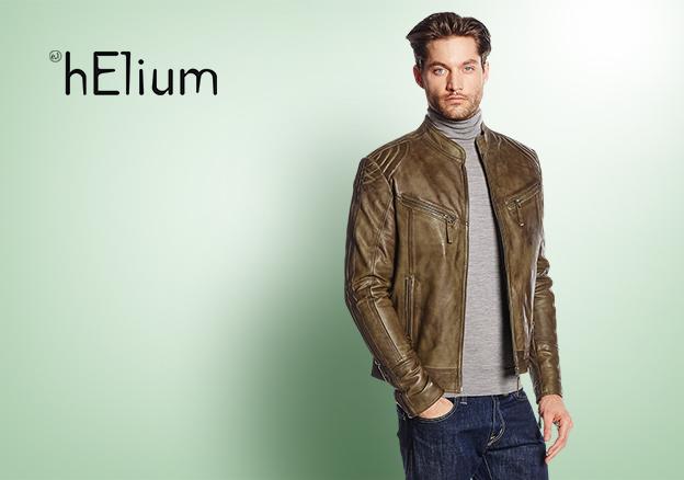 helium giacca pelle uomo