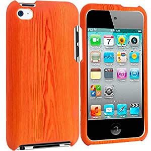 Accessory Planet(TM) Wood Grain Hard Snap-On Design Rubberized Case Cover Accessory for Apple iPod Touch 4th Generation