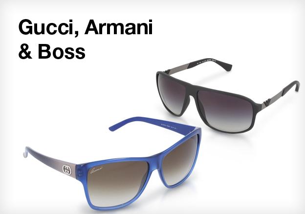 Gucci, Armani & Boss