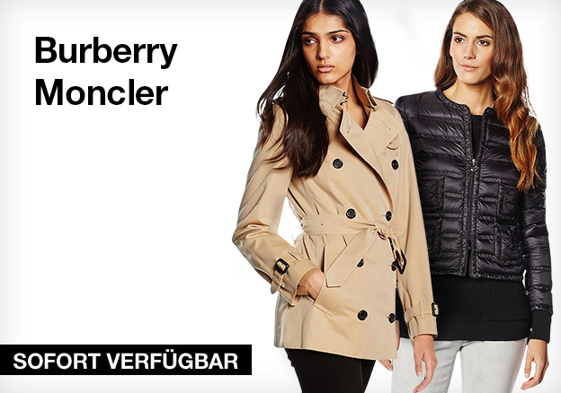 Burberry and Moncler
