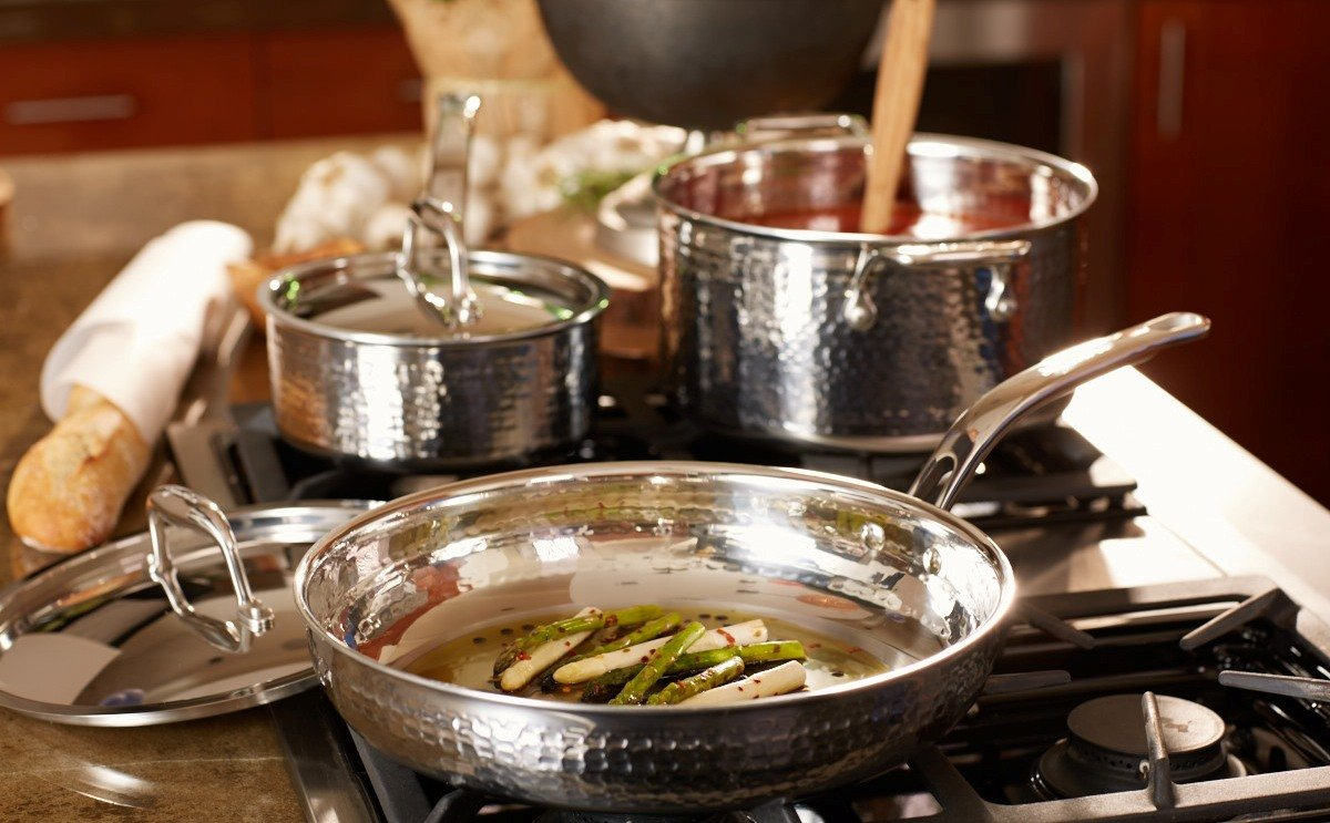 Cookware home kitchen all pans specialty for Lagostina kitchen tool set 8 pc