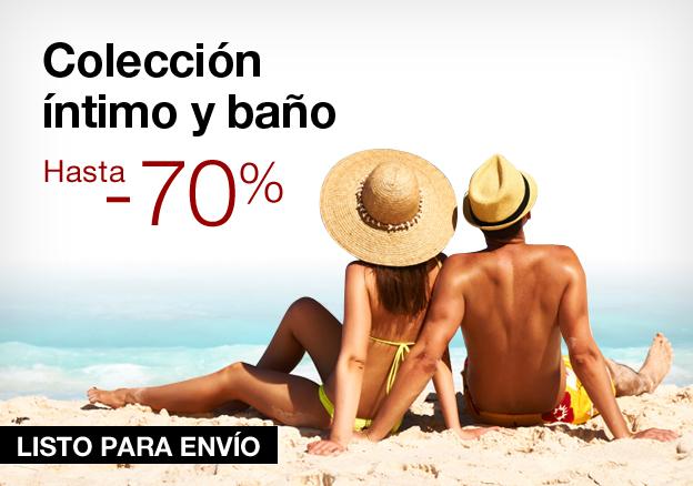 Colección íntimo y baño: hasta -70%