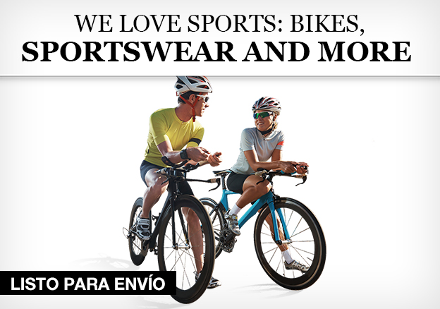 We love sports: Bikes, Sportsware and more